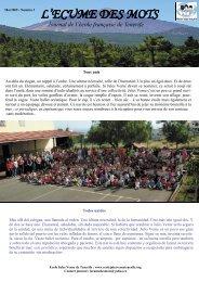 L'ECUME DES MOTS - Lycée Français de Tenerife