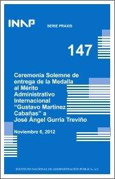 Praxis 147 - Instituto Nacional de Administración Pública, AC