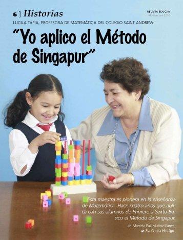 """""""Yo aplico el Método de Singapur"""" - Educar"""