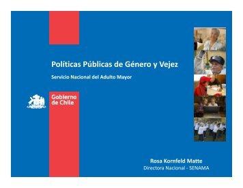 Políticas Públicas de Género y Vejez - Ministerio de Desarrollo Social
