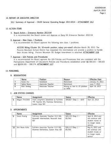 April 24, 2013 - Colonial Intermediate Unit 20