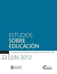 ESTUDIOS SOBRE EDUCACIÓN - Universidad de Navarra