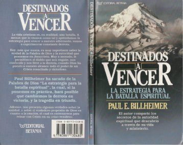 Paul E. Billheimer – Destinados A Vencer - Ondas del Reino