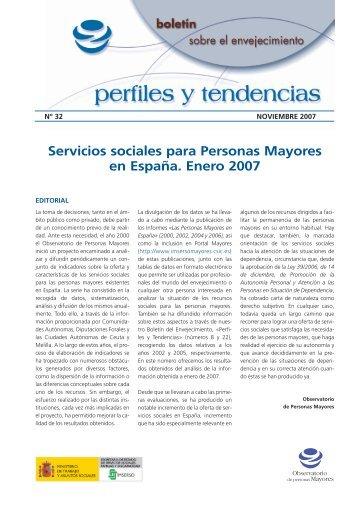 Servicios sociales para Personas Mayores en ... - Portal Mayores