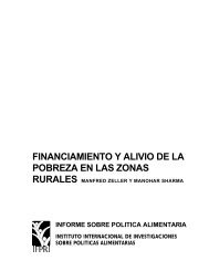 Pobreza en las Zonas Rurales - International Food Policy Research ...