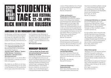 Workshopübersicht_Stand 12.4.11.indd - Schauspiel Frankfurt