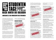 blick hinter die kulissen - Schauspiel Frankfurt