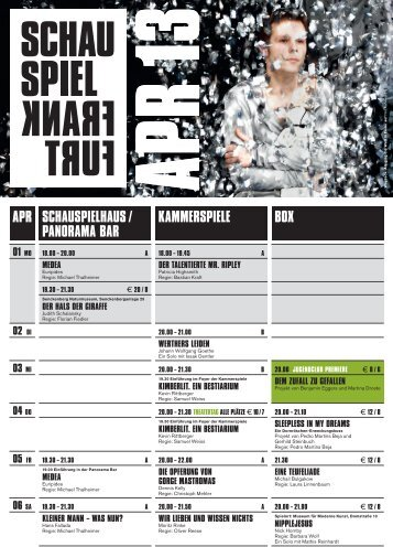 Apr KAmmerspiele Box scHAuspielHAus / pAnorAmA BAr