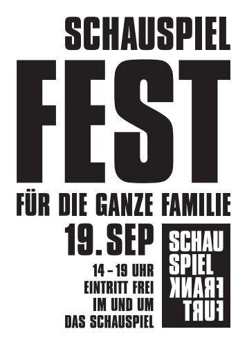 aktionsstände für kinder - Schauspiel Frankfurt