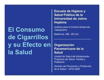 El Consumo de Cigarrillos y su Efecto en la Salud - Conevyt