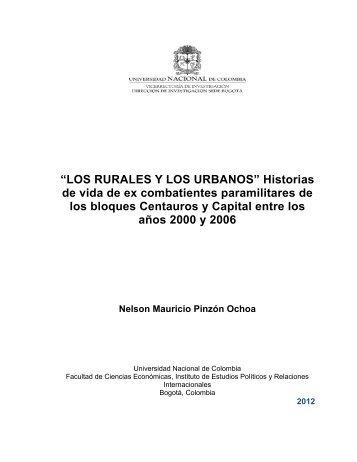 LOS RURALES Y LOS URBANOS - Universidad Nacional de ...