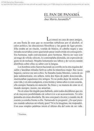 EL PAN DE PANAMÁ Ana María Jaramillo - Biblioteca - Itam