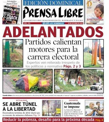 Partidos calientan motores para la carrera electoral - Prensa Libre