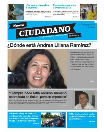¿Dónde está Andrea Liliana Ramírez? - Nuevo Ciudadano Semanario