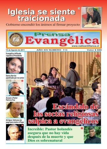 Iglesia se siente traicionada Iglesia se siente ... - Radio Antillanca