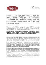tony allen, vetusta morla, method man, café tacvba y tequila ...