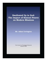 Swallowed Up in God: The Impact of Samuel ... - Baptist Theology