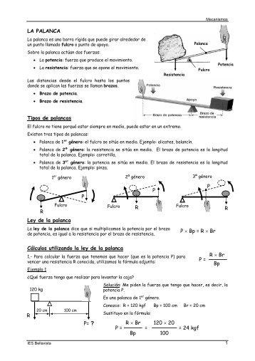 Mecanismos apuntes de teoría y ejemplos