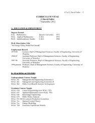 CURRICULUM VITAE J. David Fuller 7 September 2012