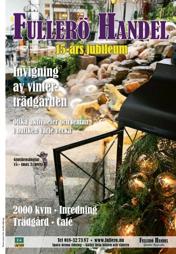 Invigning av vinter- trädgården - Fullerö Handel