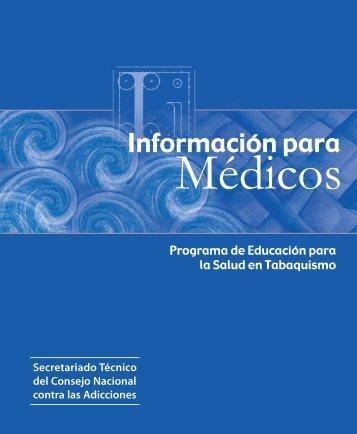 Información para médicos - Comisión Nacional contra las Adicciones