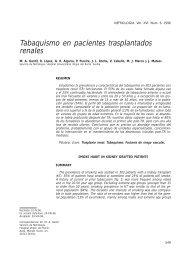 Tabaquismo en pacientes trasplantados renales - Revista Nefrologia