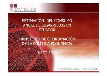 ESTIMACIÓN DEL CONSUMO ANUAL DE ... - El Comercio
