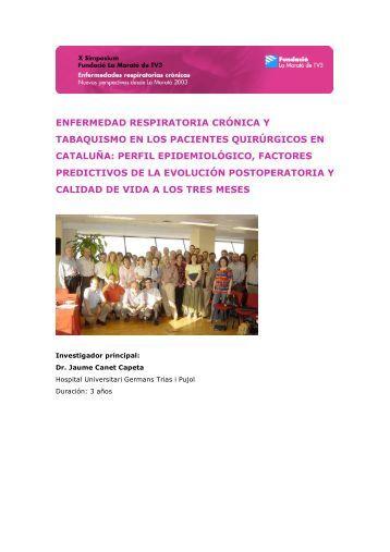 Dr. Jaume Canet Capeta Hospital Universitari Germans Trias i Pujol ...