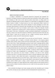 A química por detrás de um airbag - Universidade de Évora