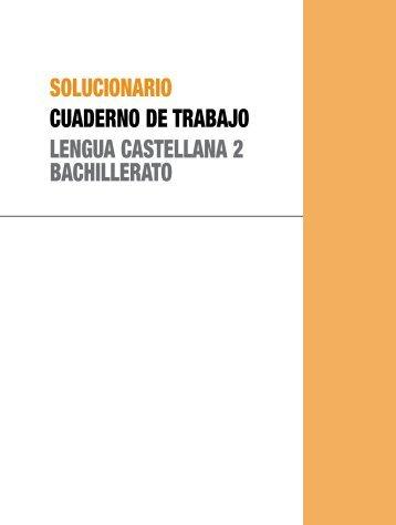 solucionario cuaderno de trabajo lengua castellana 2 bachillerato