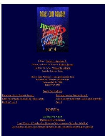 Pares cum Paribus Nº 4: Índice - Facultad de Ciencias Sociales ...