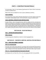 PART 2 - CONSTRUCTION MATERIALS - City of Riverside