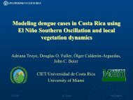 Adriana Troyo-Modeling dengue cases in Costa Rica ... - NeTropica