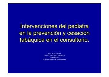 Intervenciones del pediatra en la prevención y cesación tabáquica ...