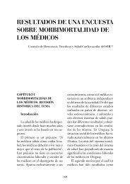 resultados de una encuesta sobre morbimortalidad de los médicos