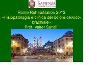 Fisiopatologia e clinica del dolore cervico-brachiale - Comitato per ...