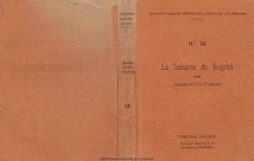 La Sabana de Bogotá - Biblioteca Nacional de Colombia