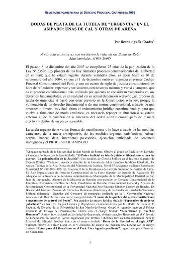 """""""urgencia"""" en el amparo - EGACAL"""