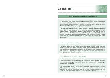 Principios de comportamiento vacuno - Cacg.org.ar
