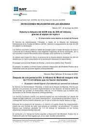 Recuento semanal núm. 22/2009, del 30 de mayo ... - Aduana México