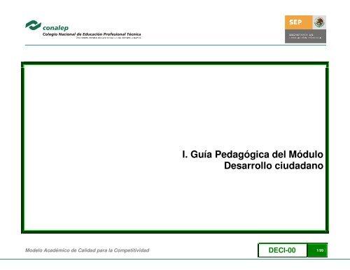 I Guía Pedagógica Del Módulo Desarrollo Ciudadano