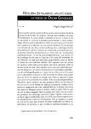 apunte sobre la poesía de Óscar González / Miguel Ángel ... - UAM