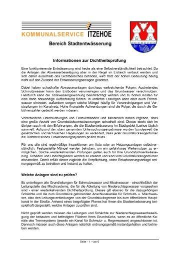 Dichtheitsprüfung – Warum - Amt Breitenburg
