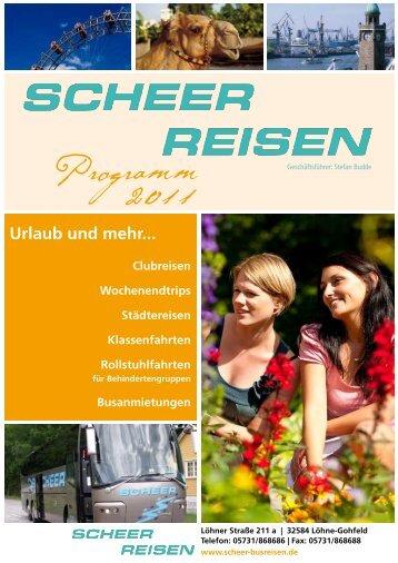 Programm 2011 - SCHEER Omnibusbetriebs GmbH