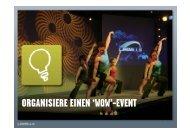 ORGANISIERE EINEN 'WOW'-EVENT - SAFS
