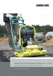Single Directional Vibratory Plates 54–117 kg AVP 1033/1040/1240  ...