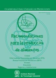 Recomendaciones para la produccion de alimentos - INTI