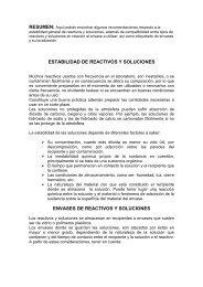 ESTABILIDAD DE REACTIVOS Y SOLUCIONES ENVASES DE ...