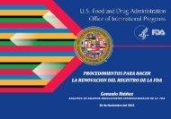Procedimiento renovación registro FDA de EEUU - Siicex