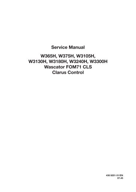 Wascator manual.